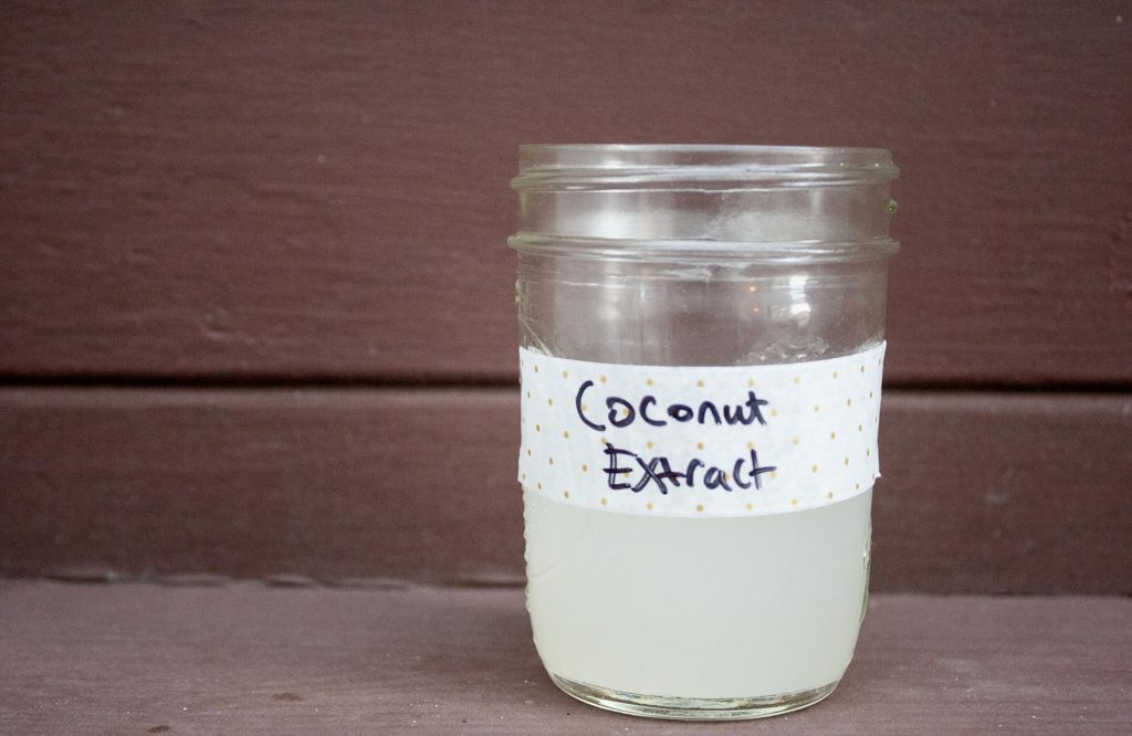 Homemade Coconut Extract