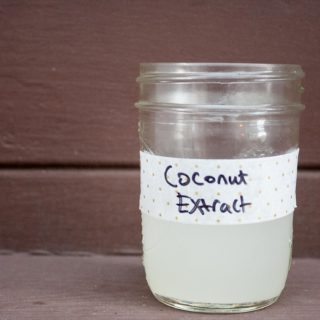 Homemade Coconut Extract made with Coconut and Vodka I lifeaswecookit.com