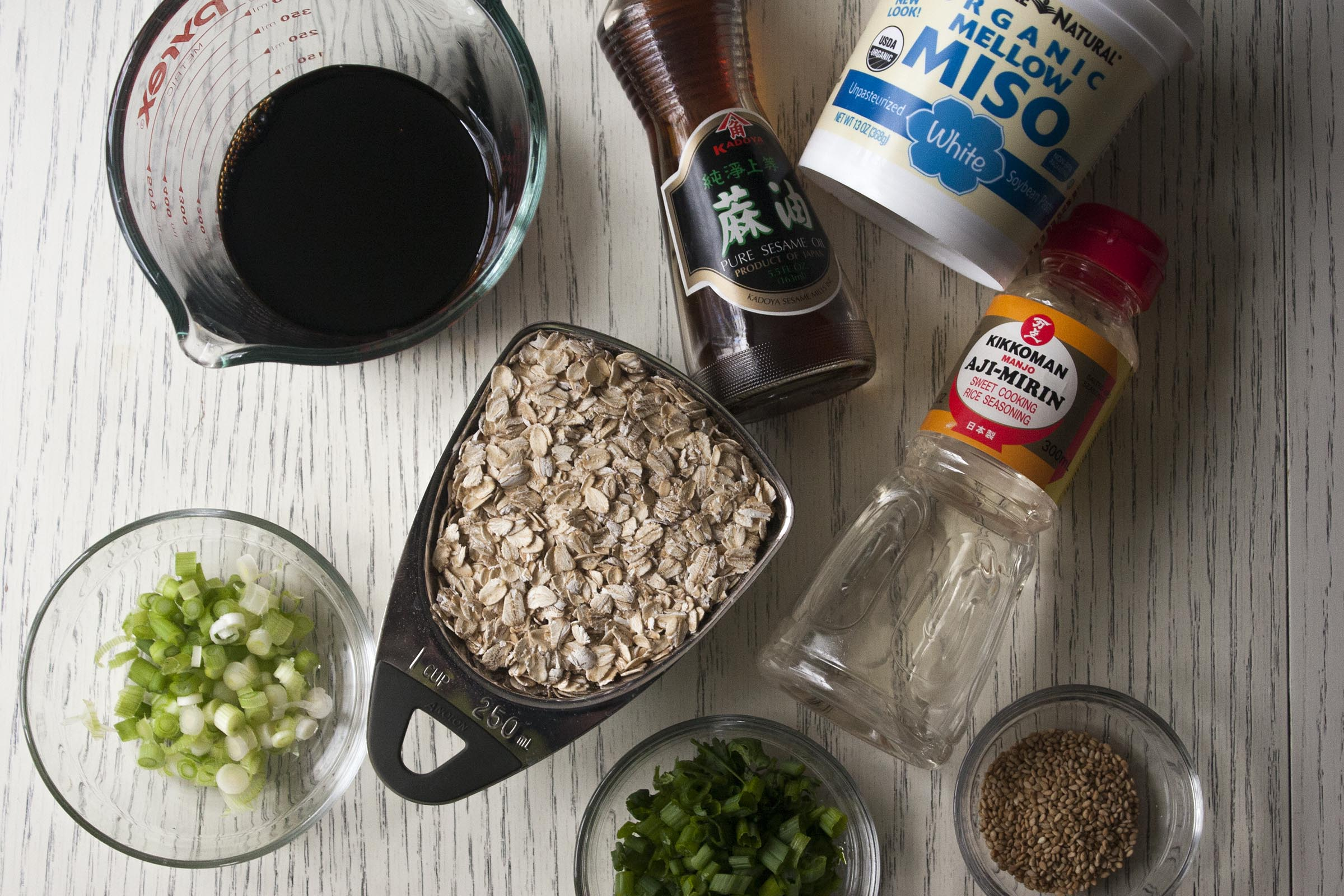 The pantry staples you need to make Savory Oats with Soy, Miso & Sesame. www.lifeaswecookit.com