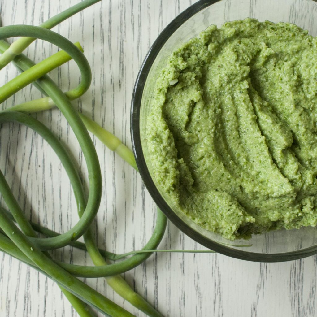 Garlic Scape Pesto (Nut-Free)